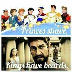 Princes Shave, Kings Have Beards From Beardoholic.com
