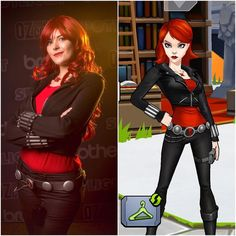 More #cosplayvscharacter! This time it's Black Widow from @playavengersacademy.  The belt is made out of foam and painted magnets and the bites are glitter glue tubes and elastic.  Photo by @steamkittens  #cosplay #avengersacademy  #avengersacademycosplay #BlackWidow #blackwidowcosplay #marvel #marvelcosplay #redhair #cosplayer #cosplayersofinstagram #natasharomanoff