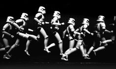 Star Wars chronophotography by Benjamin Wooten