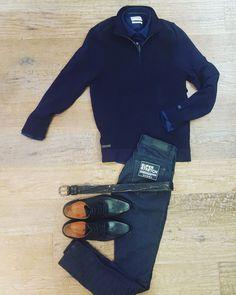 Looking cool!! Schipperstrui + Shirt #castiron Jeans #Gabba Shoes #neroGiardini www.partnermode.nl