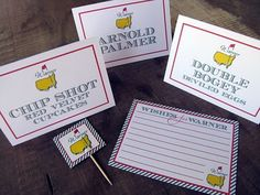 masters party table labels.