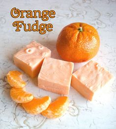 Easy Orange Microwave Fudge Recipe Desserts with sweetened condensed milk, white chocolate chips, butter, orange extract, color food orang (easy chocolate chip cookies no eggs) Brownie Desserts, Easy Desserts, Delicious Desserts, Yummy Food, Candy Recipes, Sweet Recipes, Holiday Recipes, Dessert Recipes, Coconut Dessert
