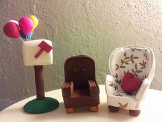 UP Disney Movie Wedding Cake Topper - Custom Carl u0026 Ellieu0027s Chairs PLUS Mail Box with : chairs from up movie - Cheerinfomania.Com