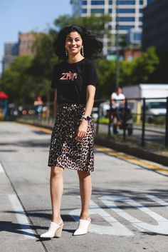 Working the mules. #refinery29 http://www.refinery29.com/2016/09/120553/nyfw-spring-2017-best-street-style-outfits#slide-126