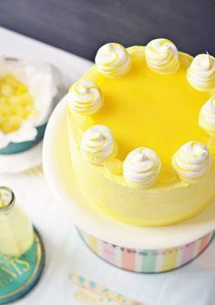 Lemon Delight Cake via Sweetapolita .