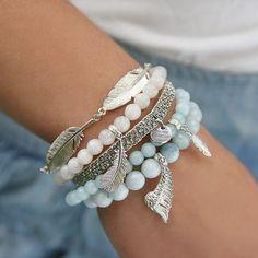 #mokobelledaybyday #mokobelle #mokobellejewellery #bracelet #jewellery #jewelry #bransoletka #lifestyle #white #silver #wing #feather