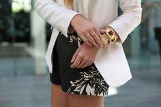 michael kors, black, black and white, blazer   ** FAVIM  **