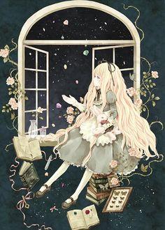 ideas drawing disney alice in wonderland anime art Art Anime, Anime Kunst, Anime Artwork, Anime Art Girl, Manga Anime, Lewis Carroll, Adventures In Wonderland, Alice In Wonderland, Disney Drawings