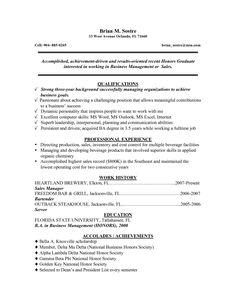 resume for recent grad