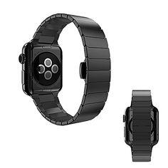 42 mm Apple Watch Edelstahl Butterfly Verschluss Classic Armband Luxus Uhrenband Strap Genius Stainless Steel Basic / Sport / Edition - Inkl. Schnalle - in Schwarz von OKCS - http://on-line-kaufen.de/okcs/42-mm-apple-watch-edelstahl-butterfly-verschluss
