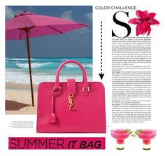 Summer IT BAG by carlavogel on Polyvore featuring polyvore, fashion, style, Yves Saint Laurent, Balenciaga and itbag