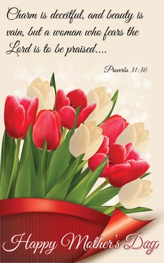 Mother's Day Tulip Design  Psalm 31:30 Church Bulletin , Cover, one of our sellers at Craft Party Augusta