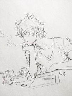 机に向かってひたすら某出版のアイデア出し。増え続ける缶コーヒーの空き缶とタバコの吸殻と無精ヒゲ。: