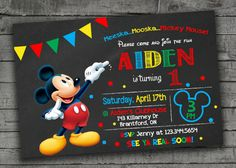 Mickey Mouse Invitation Maker New Mickey Mouse Birthday Invitation Mickey Mouse Clubhouse Fiesta Mickey Mouse, Mickey Mouse Photos, Mickey Mouse Baby Shower, Mickey Mouse 1st Birthday, Mickey Y Minnie, Mickey Party, Minnie Mouse, Pirate Party, 2nd Birthday