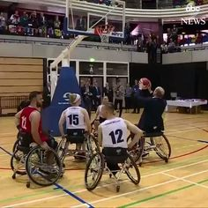 Prince William plays wheelchair basketball