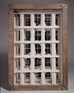 """Joseph Cornell, Untitled (Window Facade) (1950-52). """"The loneliness of objects. Their secret lives. Like seeing something move in a Cornell box"""" (chapter 15, p. 136)"""