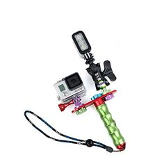 //3//2 //1 Xiaoyi and Other Action Cameras Durable Dual Grip Handle Stabilizer Aluminum Mount Bracket for GoPro New Hero //HERO6//5//5 Session //4 Session //4//3