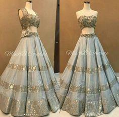 Stylish Dress Designs, Stylish Dresses, Fashion Dresses, Indian Dresses, Indian Outfits, Indian Formal Wear, Pakistani Wedding Outfits, Party Wear Lehenga, Indian Lehenga