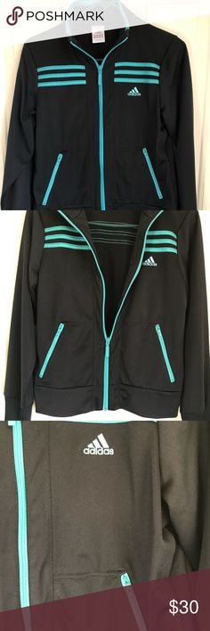 Addis Track set-Jacket-M/ Bottoms -Small I'm selling this as a set.  I purchased the pieces separately at the Lady Foot Locker, but at the same time. I wore this one time.  Adidas jackets run a little small, so I bought a medium. The bottoms are a size small. It's a sharp looking outfit, but I have no need for it now.  It's black with green striping.  Please message me if you have any questions.❤️ adidas Other