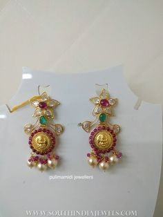 10+Grams+Gold+Earrings+From+Pulimamidi+Jewellers