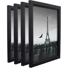 Craig Frames Simple Black Hardwood Picture Frame, Set of 4