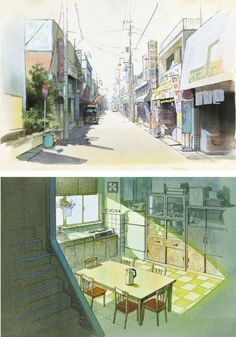 Kazuo Oga for Ghibli. I love his attention to little detail. His outstanding backdrops are really one of the things I love so much about Ghibli's animation.