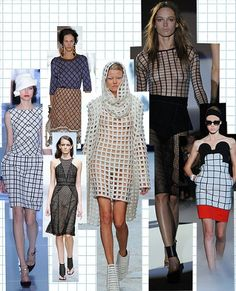 Fashion trend report spring/summer 2012: A fresh new print hit the catwalks this season, so discard of your autumn/winter 2011 spots - grids and checkerboards are on their way in. Marios Schwab, Gareth Pugh and Christian Dior will show you how it's done.                                            Clockwise from bottom left: Christian Dior, Marni, Hakaan, Jean Charles de Castelbajac, Gareth Pugh, Marios Schwab.