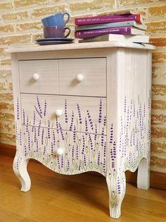 inspiration lavender side table