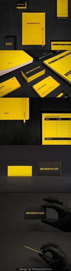 Corporate identity branding stationary minimal graphic logo design print business card letterhead bold colors contrast