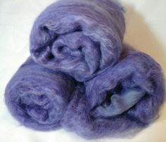 Suri Alpaca Batt Purple Alpaca Batt Hand by BreezyRidgeAlpacas