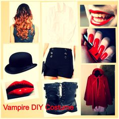 Diy vampire costume diy halloween costume vampire by smashinbeauty diy vampire costume diy halloween costume vampire by smashinbeauty featuring emo shirts oddities pinterest diy vampire costume vampire costumes and solutioingenieria Image collections