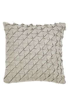 "zestt 'Jaxon' Pillow  A pintucked finish lends textural intrigue to a cozy-chic wool-blend accent pillow.      18"" square.     60% wool, 40% polyester with feather/down fill.     Machine wash cold, tumble dry low.     By zestt; imported."