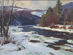 """West River, Jamaica, VT,"" Aldro T. Hibbard, oil on board, 17-1/2 x 23-1/2"", private collection."