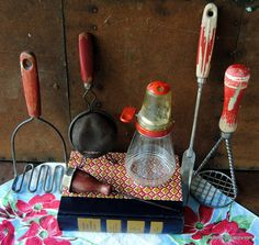 Farmhouse Vintage Kitchen Utensil Collection  by TheBoominGranny, $20.00