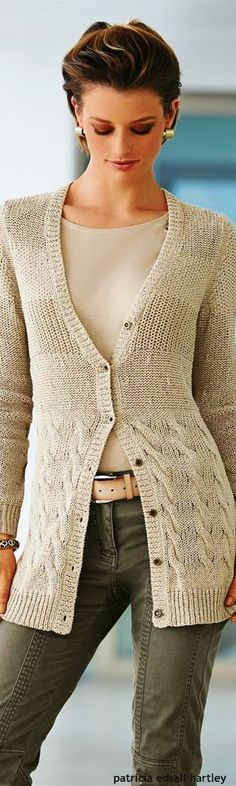 Madeleine knit cardigan  women fashion outfit clothing style apparel @roressclothes closet ideas