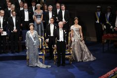 The Swedish Royal Family attends the Nobel Prize Awards Ceremony at Concert Hall in Stockholm Victoria Prince, Princess Victoria Of Sweden, Princess Estelle, Crown Princess Victoria, Princesa Victoria, Royal Video, Style Royal, Swedish Royalty, Prince Daniel