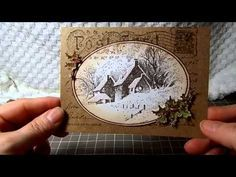 Vintage Christmas card Stampendous postcard stamp - YouTube