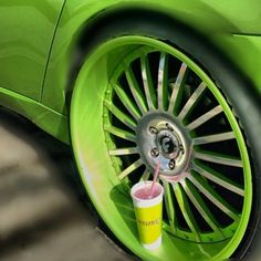 Juice It Up! Smoothie & Green Car. Sweet! #gogreen #juiceitup #forgiato #wheels #bmw #likeaboss #car #epic #swag #smoothie #fruit #juicy #green #loudd #fan #juiceitupfan #livelifejuiced