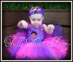 Custom Purple Dora birthday TuTu dress Any Size 12 by Tulletime, $35.00