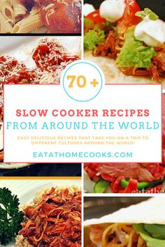 I've spent several weeks rounding up the best recipes for your slow cooker in every category I could think of. We started with sandwiches and side dishes and moved on to Tex-Mex favorites and breakfast/brunch Slow Cooked Meals, Healthy Slow Cooker, Healthy Crockpot Recipes, Slow Cooker Chicken, Healthy Cooking, Slow Cooker Recipes, Slow Cooking, Easy Delicious Recipes, Yummy Yummy