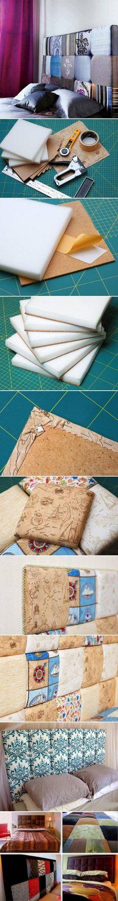 Comment faire une tête de lit décorative et originale.