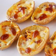 Barquitas de patata, queso y tomate ☆☆