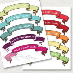 Happy Birthday Circle Letter Banner Free Printables