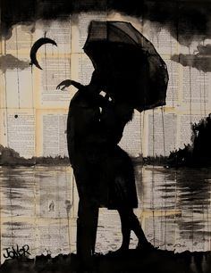 "Saatchi Art Artist: Loui Jover; Pen and Ink 2013 Drawing ""night tryst"""