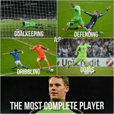 This. This and so many others are the reason why Manuel Neuer should've won the Ballon d'Or. Christiano Ronaldo doesn't even come close.