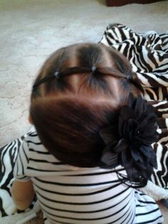 was lookin at hairstyles for lil girls... I think imma try this style on my daughter hair :)
