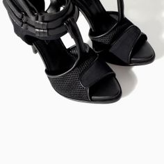 a54037c70a5 Image 4 of HIGH HEEL SANDAL WITH MESH from Zara Gitter