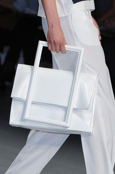 J. JS Lee White Handbag Spring 2015 Collection