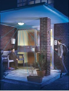 Charming Motion Sensor Lights For Outdoor Areas Like Porch