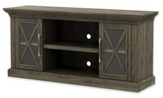 With room to organize electronics, game consoles and cable boxes, the Cottage Grove TV Stand from Bell'O is a practical furniture addition to pair with your flat screen TV. A chic weathered finish throughout gives the piece a rustic vibe. Cottage Grove, Loft Furniture, Rustic, Cabinet, Tv, Storage, Grey, Room, Home Decor